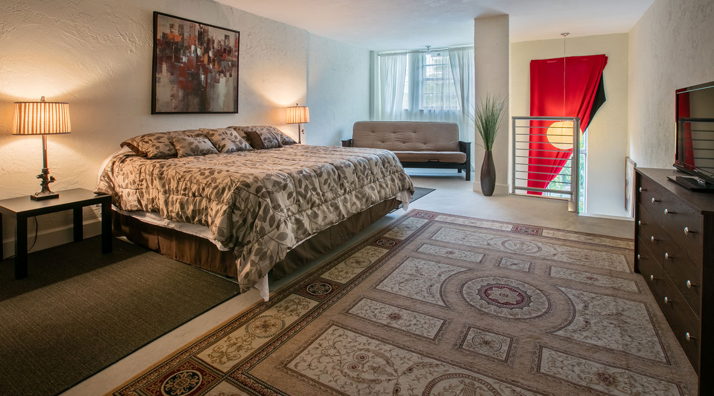 Luxury Bedroom at The Lofts on the Park